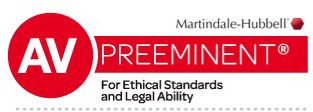 Credential logo for AV® Preeminent™ - Martindale–Hubbell® Peer Review Ratings™