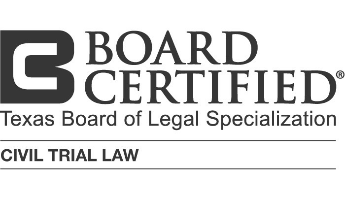 Credential logo for Board Certified in Civil Trial Law - Texas Board of Legal Specialization