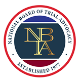 Credential logo for Board Certified in Civil Trial Advocacy - National Board of Trial Advocacy